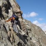 running belay op Hintere Graslwandspitze 3325m.