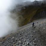 op weg naar refuge Dent de la Parachee 2501m.