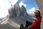 leuk lunchplekje net na de top Paternkofel 2744m.