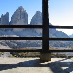 Rifucio Locatelli alle Tre Cime di Lavaredo 2450m.
