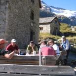 Essener Rotstock Hütte 2208m.